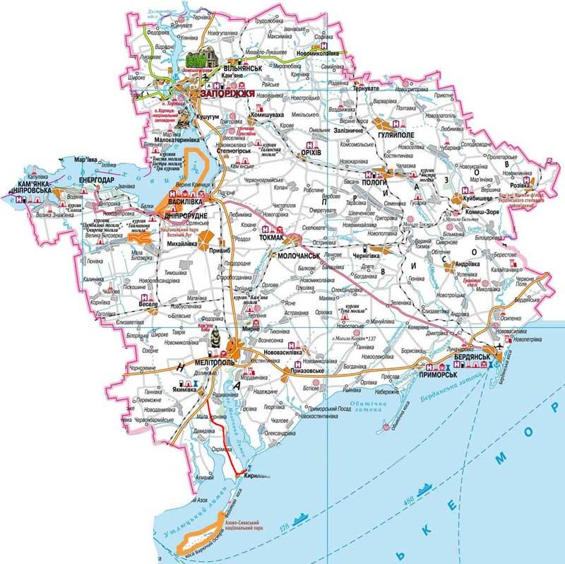 Карта Геническа